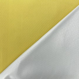 Tissu jacquard réversible Goldy - jaune d'or x 10cm