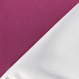 Reversible jacquard fabric Goldy - amarante x 10cm