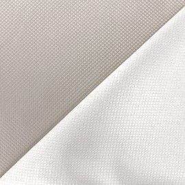 Reversible jacquard fabric Goldy - pearl grey x 10cm