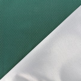 Tissu jacquard réversible Goldy - vert océan x 10cm