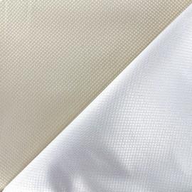 Tissu jacquard réversible Goldy - beige clair x 10cm