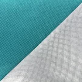Reversible jacquard fabric Goldy - azure x 10cm