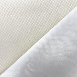 Tissu jacquard réversible Goldy - écru x 10cm
