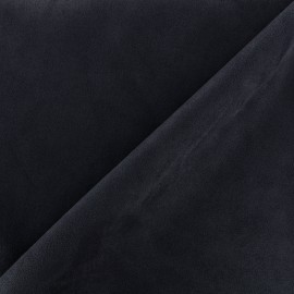 Tissu Suédine élasthanne Soft - marine x 10cm