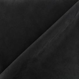 Tissu Suédine élasthanne Soft - noir x 10cm