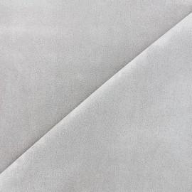 Tissu Suédine élasthanne Soft - gris clair x 10cm