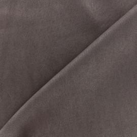 Tissu Suédine élasthanne Soft - chocolat x 10cm