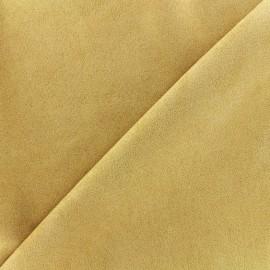 Tissu Suédine élasthanne Soft - jaune x 10cm