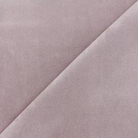 Tissu Suédine élasthanne Soft - vieux rose x 10cm