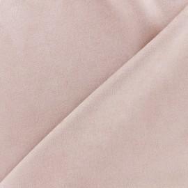 Suede elastane fabric Soft - light pink x 10cm