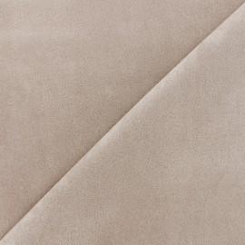 Suede elastane fabric Soft - light beige x 10cm