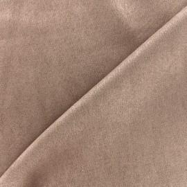 Suede elastane fabric Soft - coffee x 10cm