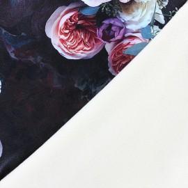 Simili cuir souple envers velours ras Blossom  - noir x 10cm