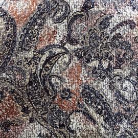 Tissu Lainage ciré Paisley x 10cm
