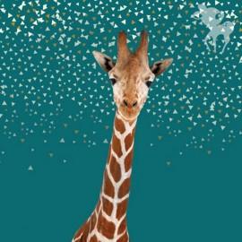 Jersey fabric panel - Girafe 70 cm x 140 cm