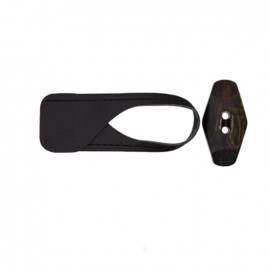Brandenburg button - black