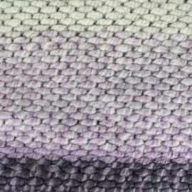 Tissu Maille tricot Wool - rose x 10cm