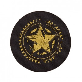 Black Jeans iron-on applique - gold star