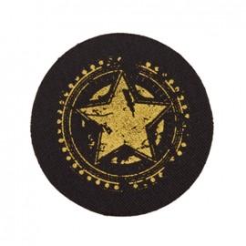 Thermocollant Jeans noir - Etoile dorée