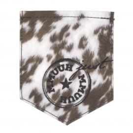 Pocket iron-on applique - The cow