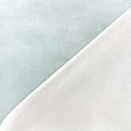 Bicolored suede elastane fabric - seagreen x 10cm