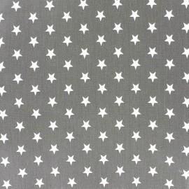 Tissu coton Etoiles - blanc/gris x 10cm