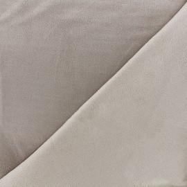 Bicolored suede elastane fabric - beige x 10cm
