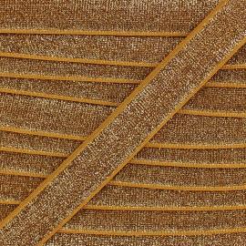 Elastique velours lurex - doré x 1m