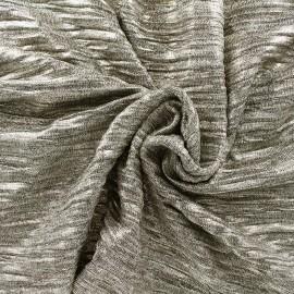 Tissu Maille plissée métallisée - or clair x 10cm
