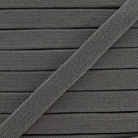 Cordon tubulaire - gris foncé x 1m
