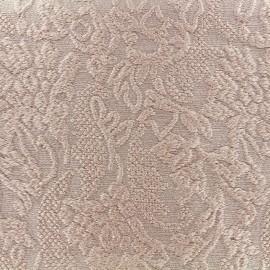 Tissu jacquard lurex Opéra - rose x 10cm
