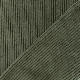 Thick ribbed velvet fabric - khaki x 10cm
