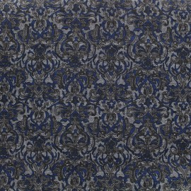 Printeed jersey fabric Baroque - navy x 10cm