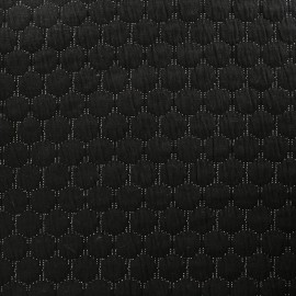 Quilted jersey lurex fabric - black x 10cm