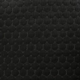 Tissu jersey matelassé lurex réversible - noir x 10cm