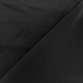 Tissu Suédine élasthanne Dolce - noir x 10cm
