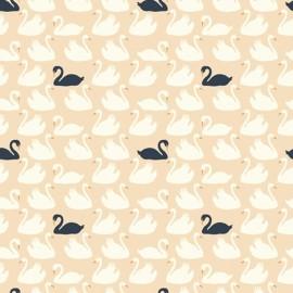 Tissu Coton bio Bevy - shell/dusk x 20cm
