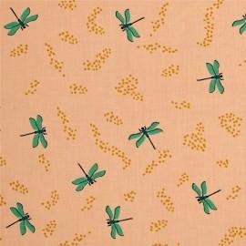 Tissu Coton bio Dragonflies - shell x 10cm