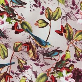 Tissu satin Sweat garden by Penelope® - rose x 10cm