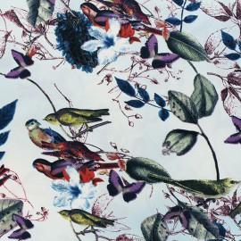 Tissu satin Sweat garden by Penelope® - bleu x 10cm