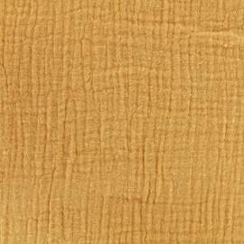 Tissu double gaze de coton - CAMEL Camillette création x 10cm