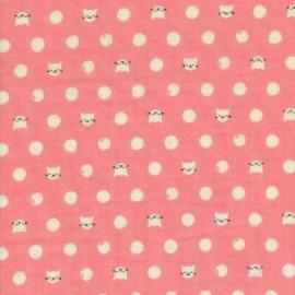 Tisseu double gaze Cat Lady - pink x 10cm