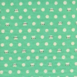 Tisseu double gaze Cat Lady - teal x 10cm
