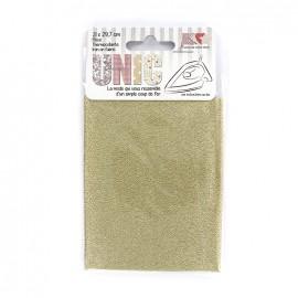 Iron on fabric - gold lurex