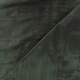 Wild Silk Fabric - dark green x 10cm
