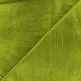 Tissu soie sauvage - vert avocat x 10cm