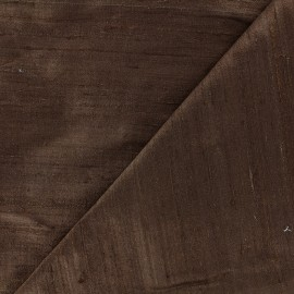 Tissu soie sauvage - marron x 10cm