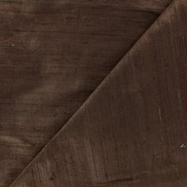 Wild Silk Fabric - brown x 10cm
