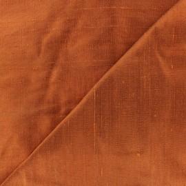 Tissu soie sauvage - brique x 10cm