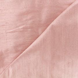 Tissu soie sauvage - rose clair x 10cm
